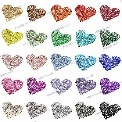 1000 x Resin & Jelly Rhinestones 2-6mm Flat Back Diamante Nail Art Craft Gems