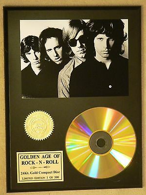 The Doors - 24k Gold CD Display - Rare Numbered Limited Edition - USA Ships Free