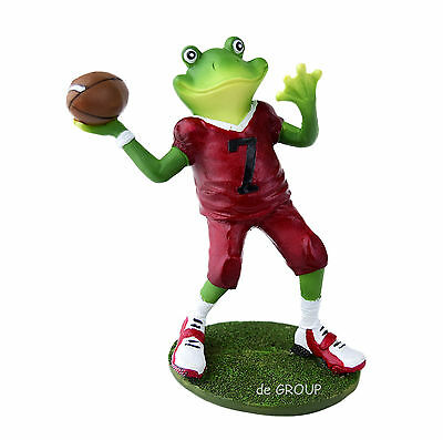 Handmade Antique Frog Style Rugby Football Decoration for Tables Rooms Homes