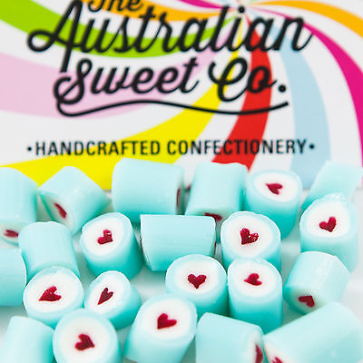 Blue Heart Rock Candy Bulk Lollies Wedding Favours Birthday Party Valentine