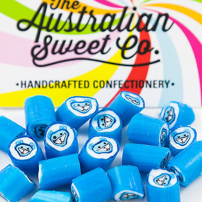 Blue Teddy Rock Candy Bulk Lollies Wedding Favours Birthday Party Valentine