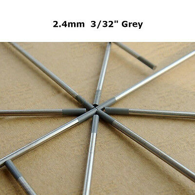 """Grey WC20 Ceriated Tungsten Electrode 2.4mm X 150mm 3/32"""" X 6"""" TIG Electrode 10"""