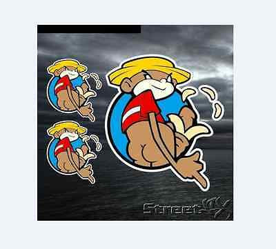 JOHNNY CHIMPO Super Troopers Sticker x3 Stickers Decals