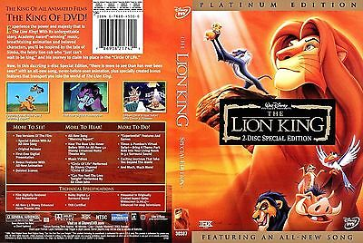 Lion King Platinum Special Edition Disney Lion King Dvd Lion King Edition 2 Disc