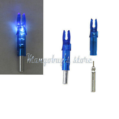 6PCS Lighted Nock Compound Bow LDE Lighted Arrow Nock blue For ID 6.2mm Archery