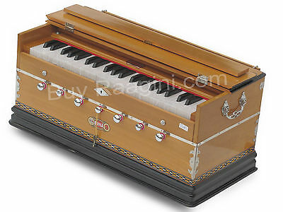 Bina™ No.9 Harmonium/coupler/42 Key/3½ Octaves/multi-Fold/teak Color/bag/age-02