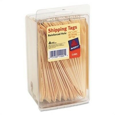 Shipping Tags, 2 3/8 x 4 1/4, Manila, 100/Pack