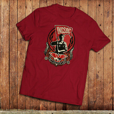 1984 T-Shirt. Ingsoc party logo from Nineteen Eighty-Four book by George Orwell