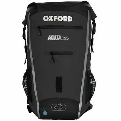 Oxford Aqua B25 Backpack Black Waterproof Rucksack Motorcycle Motorbike Cycle