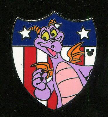 WDW 2013 Hidden Mickey Patriotic Figment Disney Pin 97202