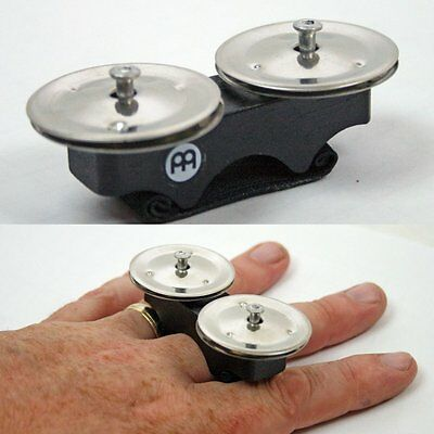 Meinl FJS1S Add-On Steel Finger Jingles Percussion for Cajon, Congos & Bongos