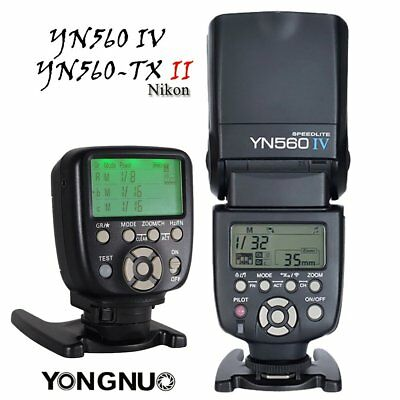Yongnuo YN560-TX N Wireless Controller + YN-560 IV Flash Speedlite for Nikon UK