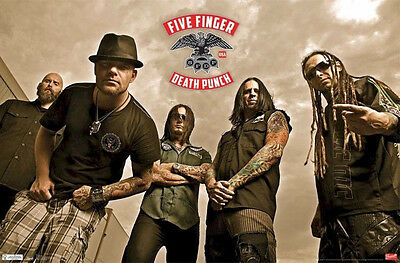 FIVE FINGER DEATH PUNCH MUSIC ROCK GROUP POSTER NEW 34x22 FAST FREE SHIPPING