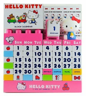 Hello Kitty Block Calendar A-Works color From Japan