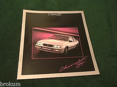 """Mint 1984 Chevrolet Cavalier Chevy Brochure 11"""" X 12""""  20 Pages (Box 529)"""