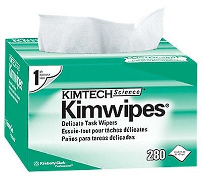 Kimberly Clark KIMTECH KIMWIPES Kim Wipes LINTFREE Cloth Task - 1 Box of 280