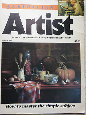 Australian Artist magazine 1990 How to master the simple subject