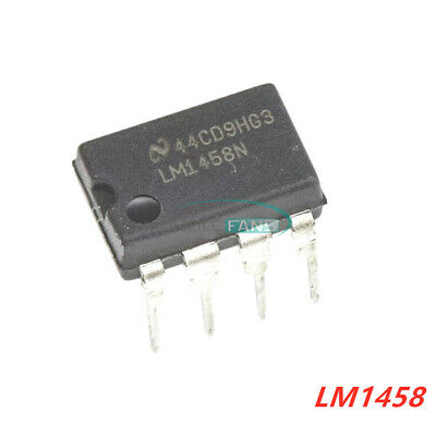 10Pcs Lm1458 Lm1458N Dip-8 Dual Operational Amplifier Ic