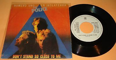"""THE POLICE Don't Stand so close to me / Friends - Rare PROMO 7"""" Spanish single"""