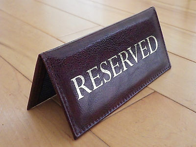 RESERVED | menu table top sign reserve catering | cafe pub hotel RESTAURANT