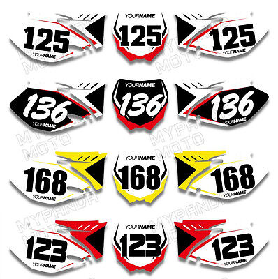 For YAMAHA YZ250F YZ450F YZF 06 2007 08 09 Custom Number Plate Decal Graphic Kit