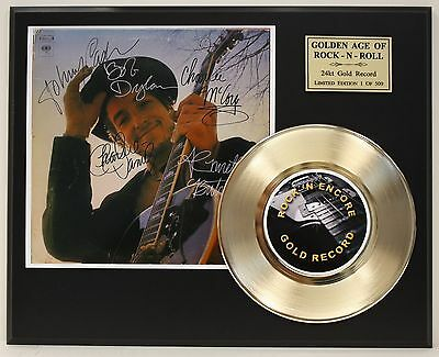 Bob Dylan 24k Gold Record Autograph Reprint Photo Limited Edition USA Ships Free