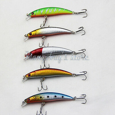 5 Pack Minnow Fishing Lures Fishing Lures Bait Bass Floating Lure Fishing Tackle