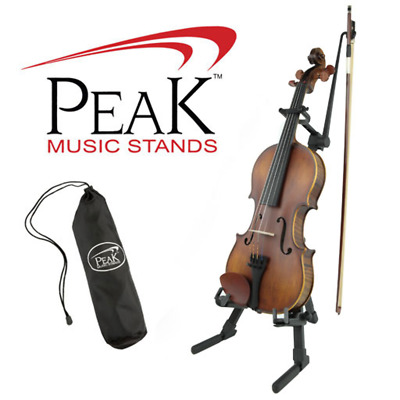 Peak Collapsible Violin Stand with Carry Bag & Bow Holder!