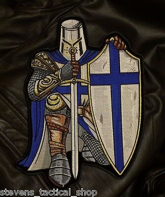 Blue Crusader Knight Back Patch