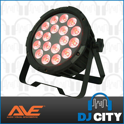 StagePar-Quad18 AVE LED Parcan 18x8watt RGBW LEDs 3 + 5 pin DMX Connections