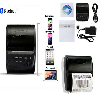 Mini Bluetooth Wireless 58mm Photo Mobile Thermal Receipt Printer fr IOS Android