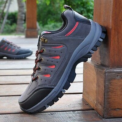 Fashion Men Pioneer Outdoor Leather Walking Hiking Waterproof Boots Shoes Sports