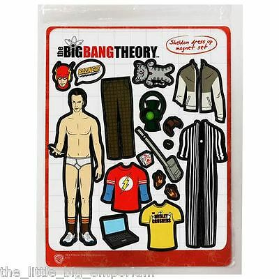 Big Bang Theory Sheldon Cooper Dress-Up Magnet Set - Fridge Fun Novelty Gift