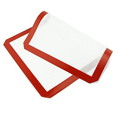 Silicone Baking Bake Cake Bread Cooking Mat Tray Dough Rolling Mat 40x30cm AU