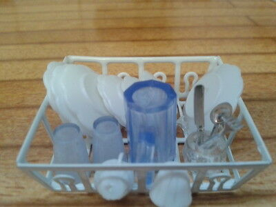 Dolls House Miniatures 1/12th Scale Draining Rack & Washing up Set New (D1633)