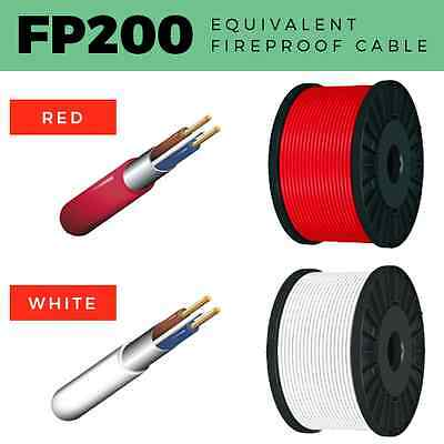 Fp200 Cable 2 Core-4 Core Fireproof Cable 1Mm-2.5Mm Fire Alarm Cable Red / White