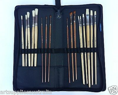 Brush Holder Case Zip Folder-24 Pockets