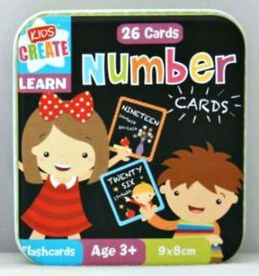 26 x Numbers Cards in tin LEARN with FUN Educational Toy 3+ nursery