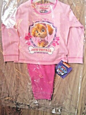 GIRL OFFICIAL SKYE PUPPY PAW PATROL PYJAMAS PYJAMA SET 12-24 Months 2-3 Years