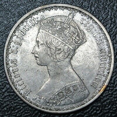 1871 GREAT BRITAIN - ONE FLORIN - SILVER - Victoria - Nice Coin