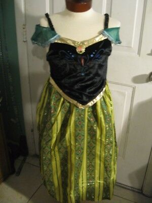 Authentic NWT DISNEY PARKS Frozen Princess Anna Coronation Dress COSTUME 7/8 Med