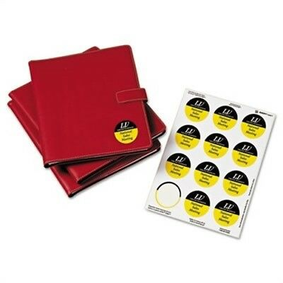 """Round Easy Peel Labels, 2-1/2"""" Dia., Glossy, White, 90/Pack"""