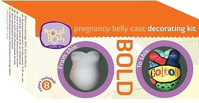 ProudBody Bold Pregnancy Belly Cast Decorating Kit. Shipping is Free