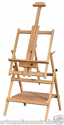 Derivan Studio Easel Beechwood with Double Deck Premium Quality & multi-function