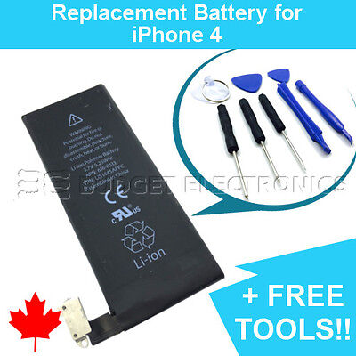 NEW Replacement Battery for iPhone 4 1420mAh APN 616-0513 with FREE Repair Tools