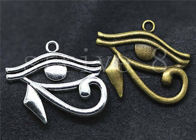 5/20/100pcs Antique Silver Rah Egypt Eye Of Horus Charms Pendant Craft 33x26mm