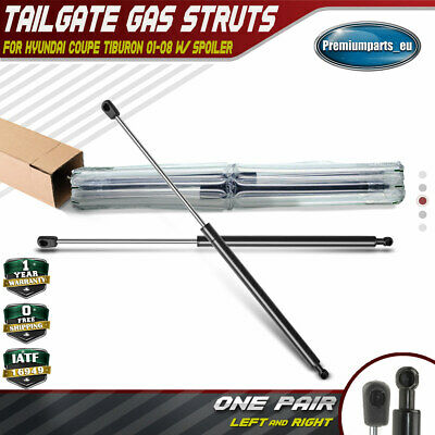 Set of 2 Tailgate Boot Gas Struts Supports for Hyundai Tiburon Coupe 2001-2008