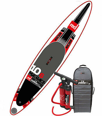 "2016 Red Paddle Co Max Race 10'6"" Inflatable SUP Paddle Board w/Titan pump/pack"