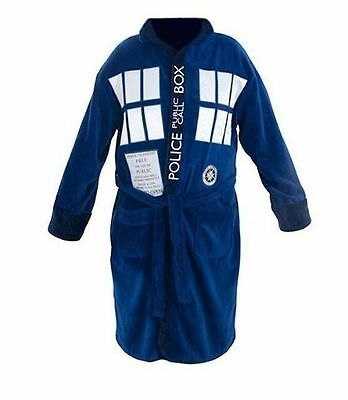 Dr. Who Blue Tardis Inspired Bathrobe (Hoodless) - with FREE SHIPPING