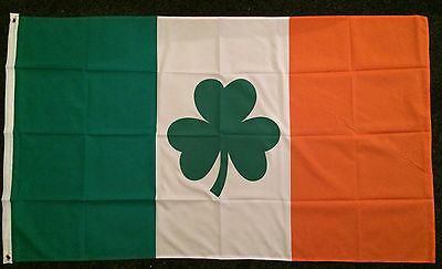 Irish Tricolour Shamrock Flag Nationalist Ireland Sports GAA Gaelic Football bn